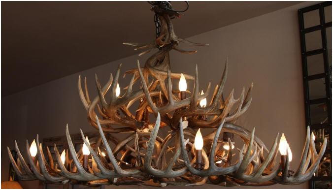 Unique antler chandeliers in northwest montana large whitetail antler chandelier mozeypictures Gallery