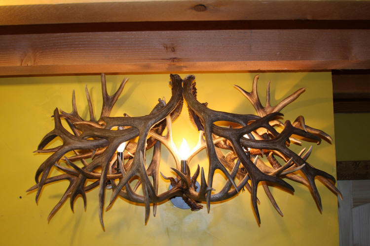 Deer Bathroom Vanity Lights : Unique antler chandeliers in Northwest Montana