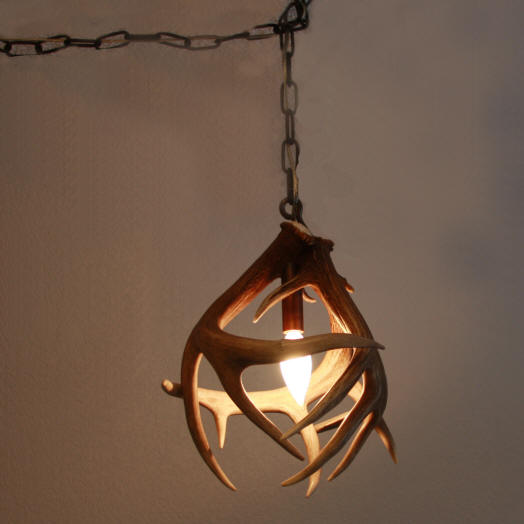 Custom antler pendant lighting made from moose caribou elk and whitetail antler pendant aloadofball