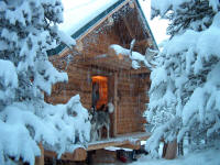 Genial Alaska Log Cabin In Winter