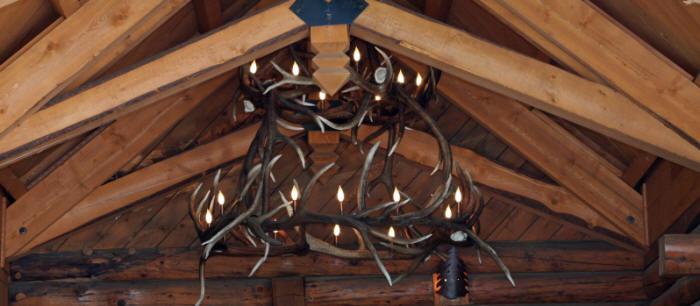 Elk antler chandeliers and lighting custom two tier elk antler chandelier mozeypictures Image collections