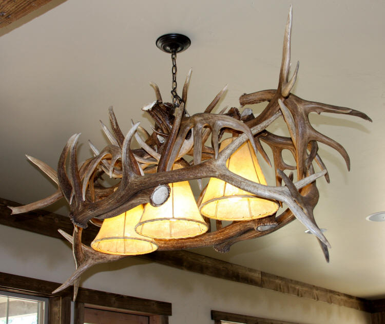 Custom Deer Antler Chandeliers And Lighting