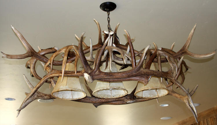 Elk Antler Chandeliers And Lighting - Antler pool table light