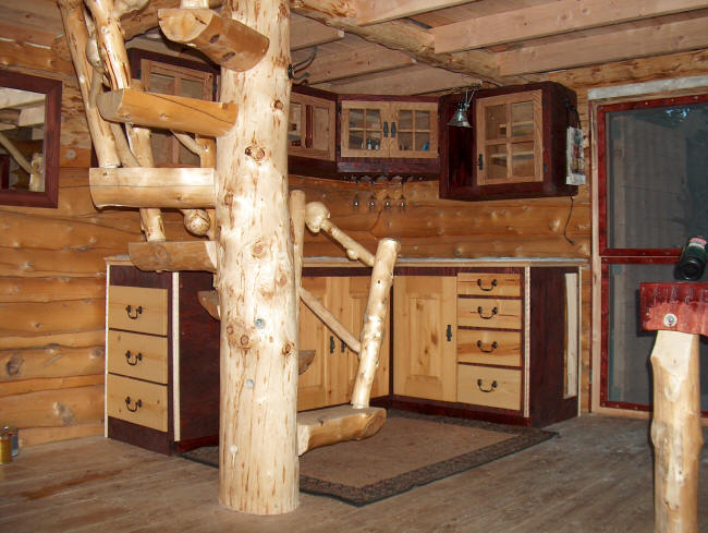 building a log cabin in alaska  the porch and cabinets