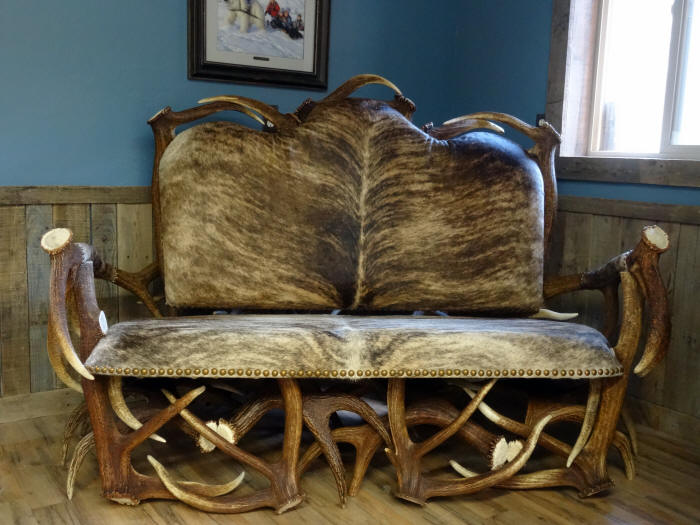 Available In Standard Leather Or Upholstered With Hair On Hide Leather.